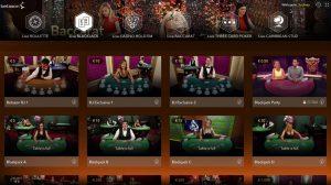 De keuze uit online live blackjack tafels is enorm