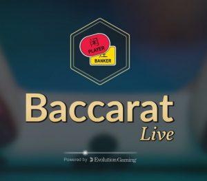 Online live baccarat wordt met hoge inzetten gespeeld