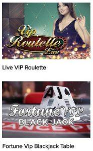 VIP live casino