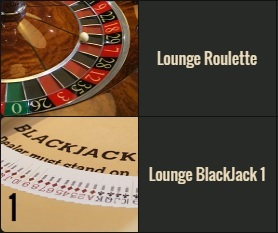 VIP live casino met Lounge Blackjack en Lounge Roulette van Salon Privé